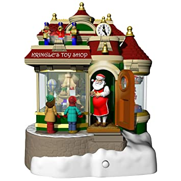Hallmark Christmas Ornaments 2019.Hallmark Keepsake Christmas Ornament 2019 Year Dated Kringle S Toy Shop With Light Sound And Motion