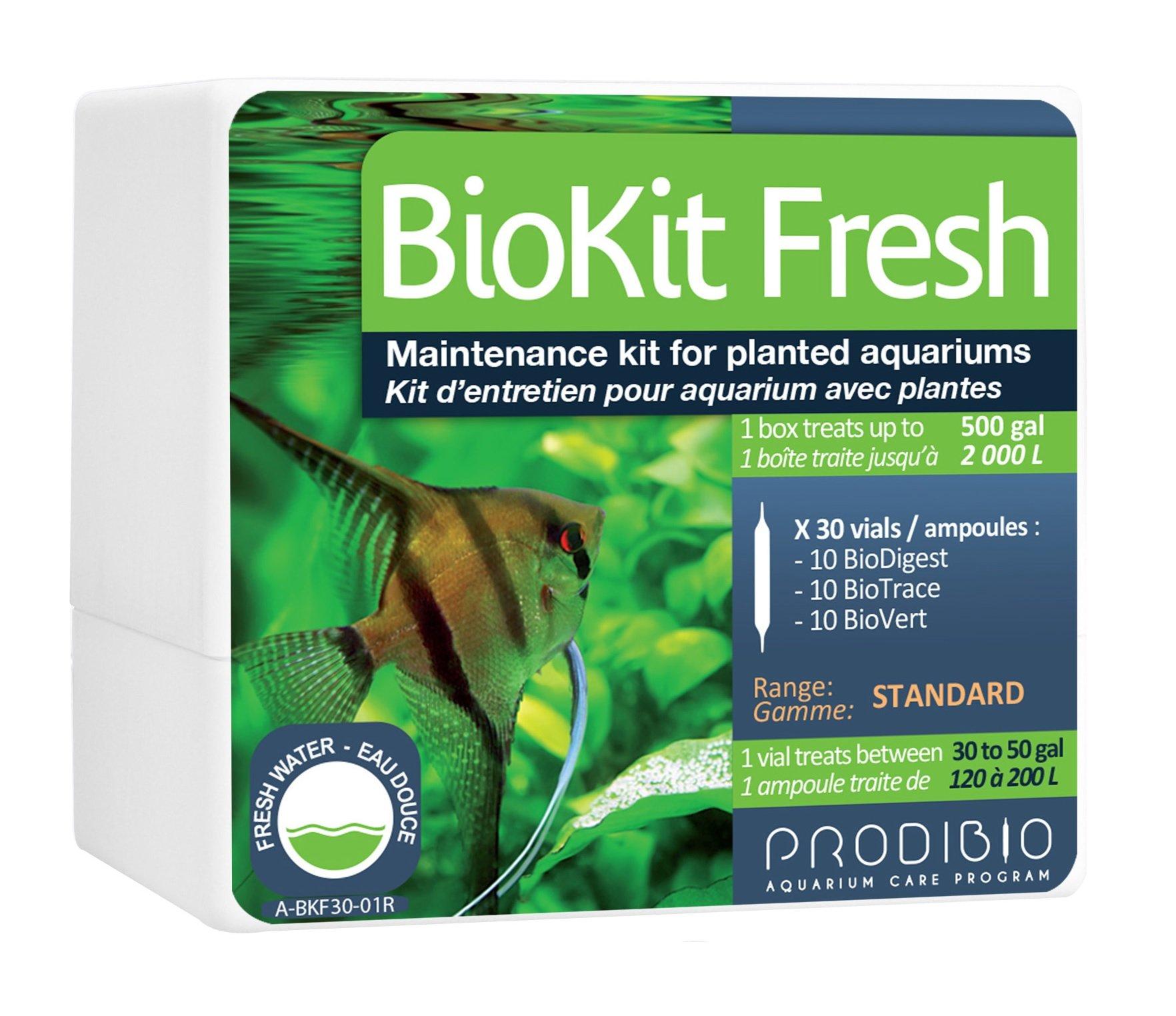 Prodibio Bio Kit, Planted Freshwater Mantenance, 30/1 mL vials, 30 gal and up by Prodibio