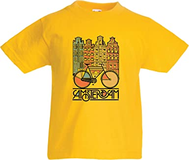lepni.me Camiseta para Niño/Niña Bicicleta Vintage de la Ciudad de ...