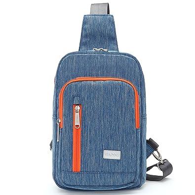 Amazon.com: Tinyat Sling Canvas Bag Shoulder Chest Pack Casual ...