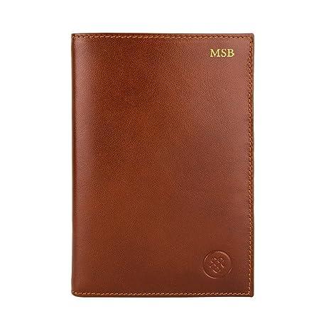Maxwell Scott® Personalizada Lujo Italiano de bolsillo en el pecho tipo cartera de piel para