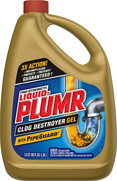 Liquid-Plumr Pro-Strength Full Clog Destroyer Plus PipeGuard