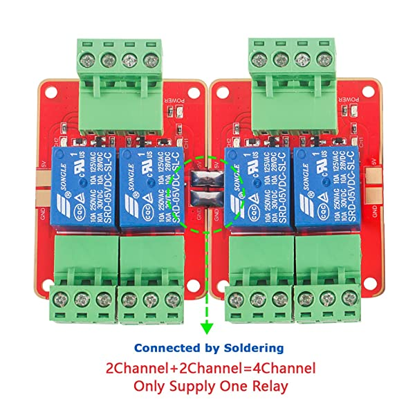 81f8HsetV%2BL._SY587_ amazon com sunfounder dc 5v power supply 2 channel relay module Relay Switch Wiring Diagram at n-0.co