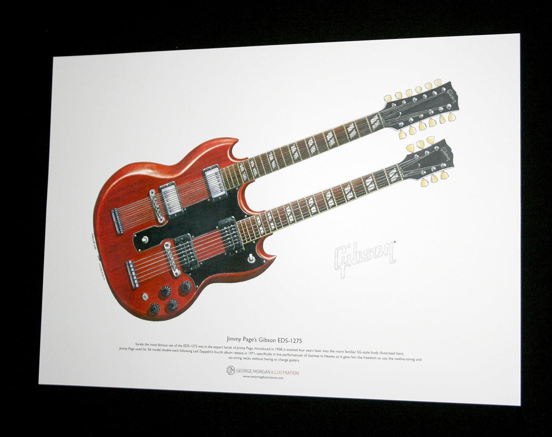 Amazon.com: Jimmy de la Página Gibson EDS-1275 Arte Cartel ...