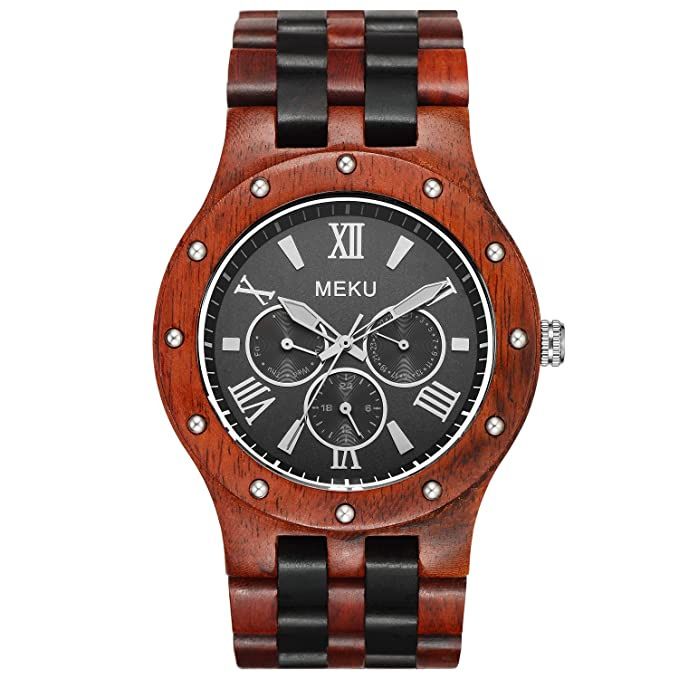 band s genuine watches bamboo products handmade leather men image mens wooden luxury ezytoo product