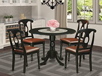 DLKE5-BLK-LC 5 Pc Dinette Table set - Small Kitchen Table and 4 Dining  Chairs