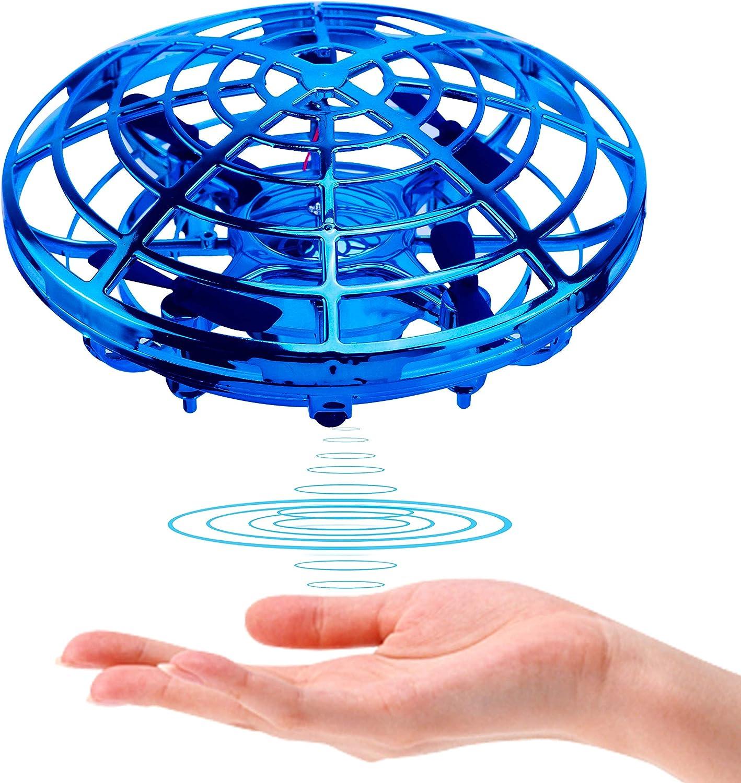 Kriogor Drone para Niños, Mini Drone Movimiento Inducción Infrarroja Interactive Juguetes Recargable UFO Drone para Navidad Regalo de Cumpleaños