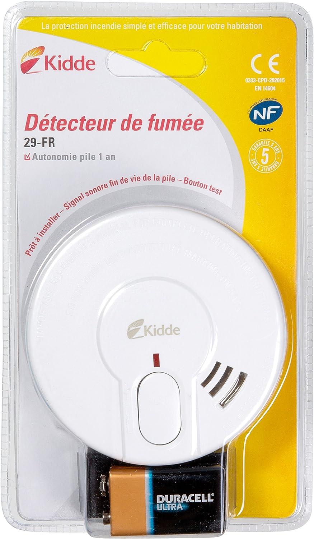 2er-Pack détecteurs de fumée L /'Alerteur Incl 9 V Batterie