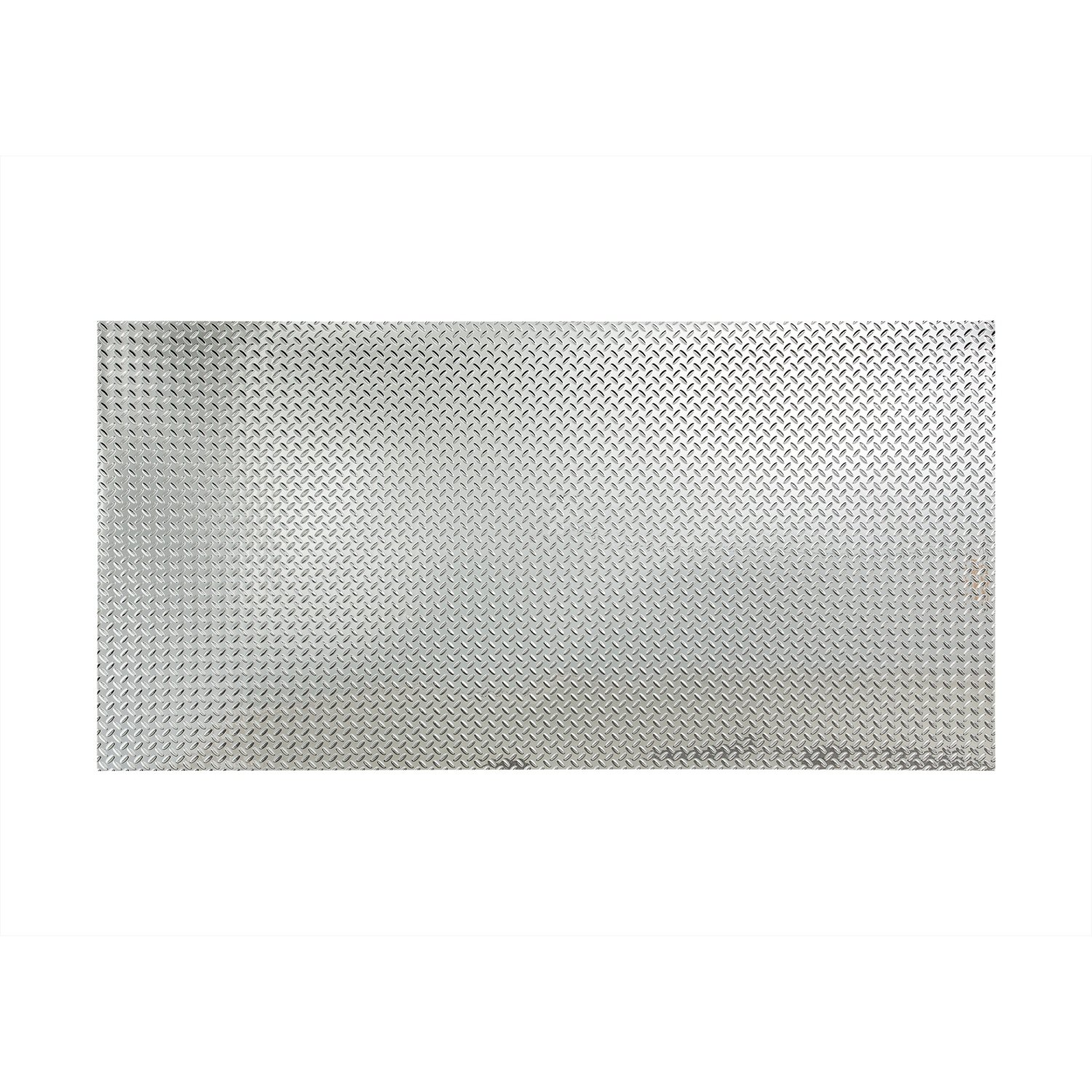 Fasade - Diamond Plate Chrome Decorative Wall Panel - Fast and Easy Installation (4' X 8' Panel)