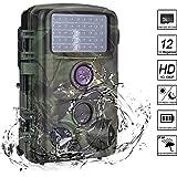 """Nicam Wildkamera 1080P Full HD Jagdkamera 120° Weitwinkel Vision Infrarote 20m Nachtsicht IP56 Wasserdichte Überwachungskamera mit 2.4"""" TFT LCD/ 46pcs IR LEDs/ 32GB Micro SD Karte - 12 MP / 0,2 Sekunden Auslösezeit / Bewegungsmelder"""