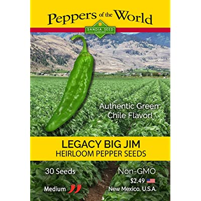 Big Jim Legacy Hatch Variety - 30 Seeds - Authentic Green Chile Flavor! Mild-Medium Heat : Garden & Outdoor