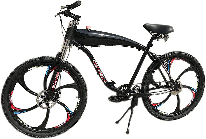 CDHPOWER 4L Gas Tank with Cap Black Color Gas Motorized Bicycle 49cc//66cc//80cc