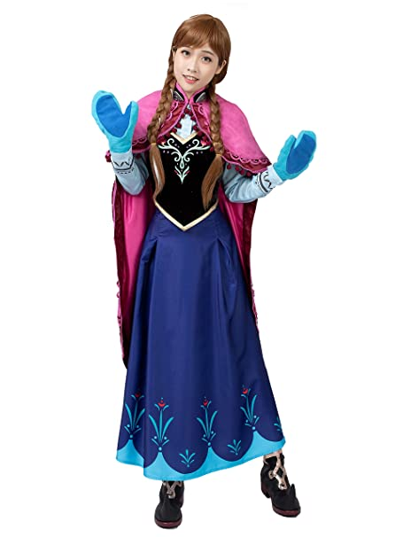 Amazon.com: CosFantasy Princesa Anna Cosplay vestido de ...