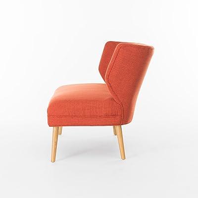 Christopher Knight Home 299390 Desdemona Mid-Century Fabric Loveseat, Orange