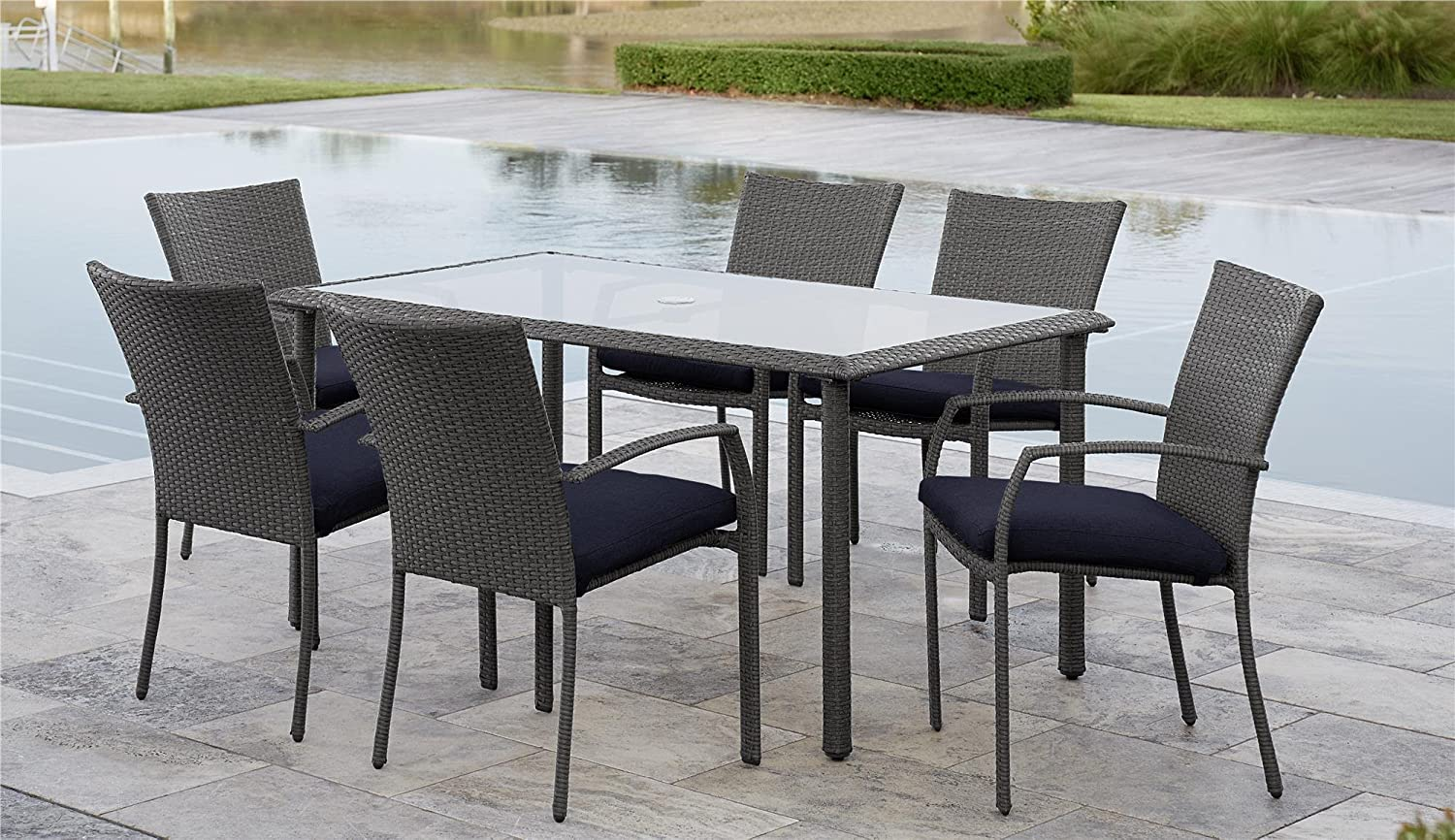 Amazon Com Cosco Outdoor Living 88597gble Lakewood Ranch Dining