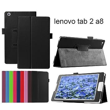 Amazon.com: Asng Lenovo Tab2 A8 / Tab3 8 Case - Premium PU ...