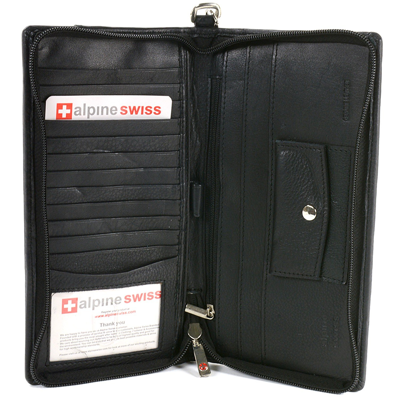 Deluxe Travel Organizer Wallet Passport Case Airline Ticket Holder Safe Zippered Removable Handle