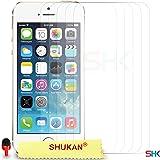 Apple iPhone 5 / 5S Pack 1, 2, 3, 5, 10 Protecteur d'écran & Chiffon SVL0 PAR SHUKAN®, (PACK 5)