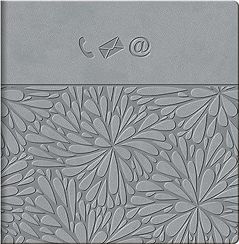 Baier & Schneider – Agenda telefónica, – Carpeta libreta de direcciones Floral, 896 Números, encuadernación blanda, 135 x 135 m