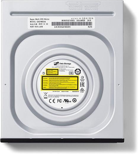 Hitachi-LG GH24NSD6 Grabadora Interno DVD DVD-RW CD-RW ROM Rewriter Para Escritorio PC o Ordenador Portátil de Escritorio Windows, Software incluido
