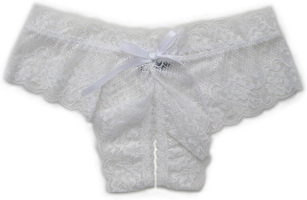 Trixx Intimates Women s Open Crotch Boyshorts Panty Thong White Plus Size 1X 355cd69f1b5