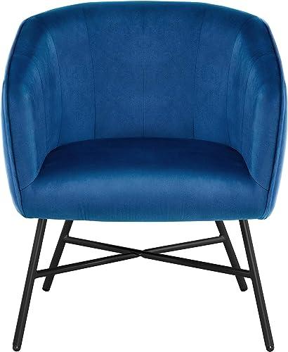 YAHEETECH Fabric Upholstered Dining Chair Soft Velvet