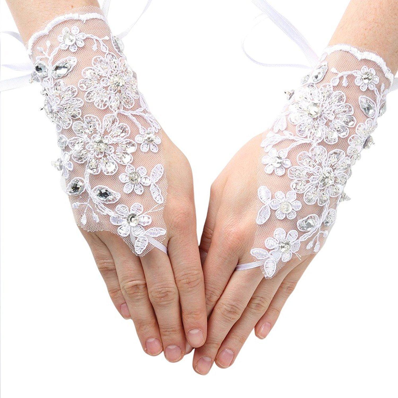 iGirlDress Girls Fingerless Communion Flower Girl Special Occasion Gloves