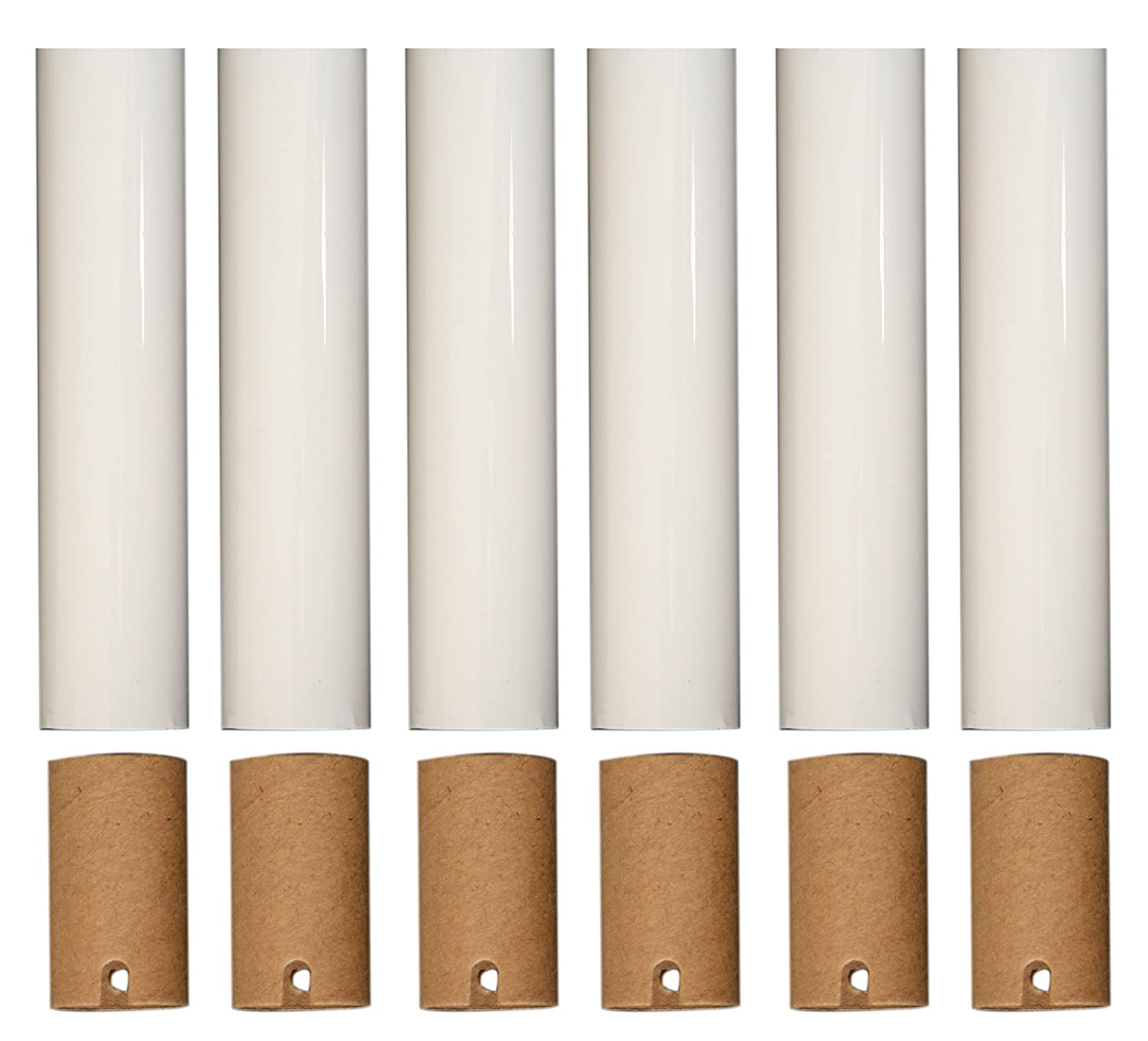 Royal Designs Chandelier Socket Covers, Paper Insulation, Cream, 4 in, Set  of 6 (SCP-5001CR-6) - - Amazon.com - Royal Designs Chandelier Socket Covers, Paper Insulation, Cream, 4