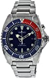 Seiko Men's SKA369 Kinetic Diver's Blue Dial, Red & Blue Bezel 200m Watch