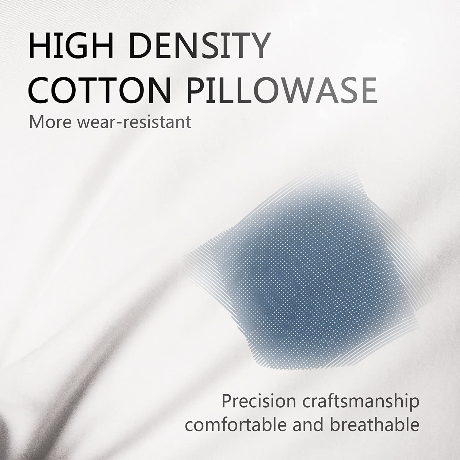 EDOW Throw Pillow Inserts,Set of 4 Soft Hypoallergenic Down Alternative Polyester Square Form Decorative Pillow, Cushion,Sham Stuffer,Cotton Cover. (White, 18x18): Home & Kitchen