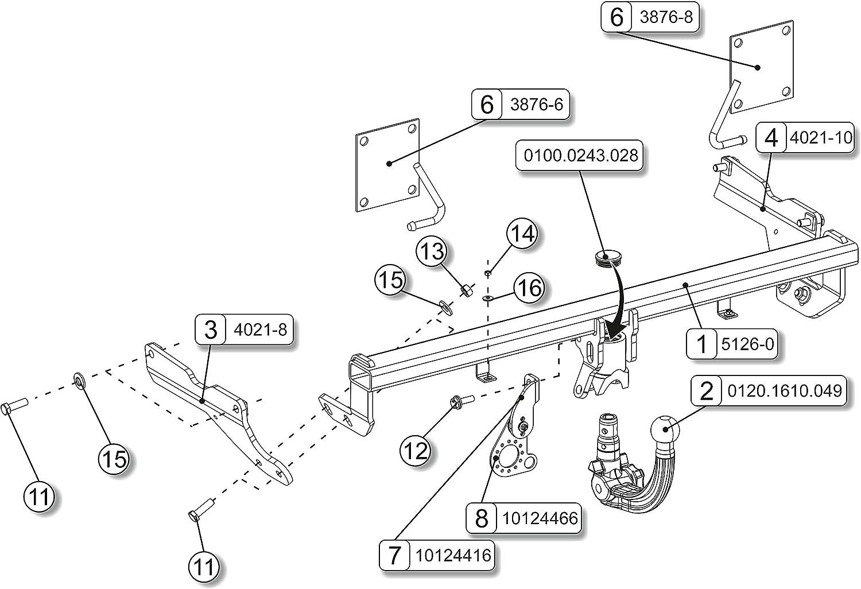 10//13-12//18 boitier /électronique RDSOV Bosal Oris Attelage Mazda 3 Hayon Faisceau Universel 7 Broches