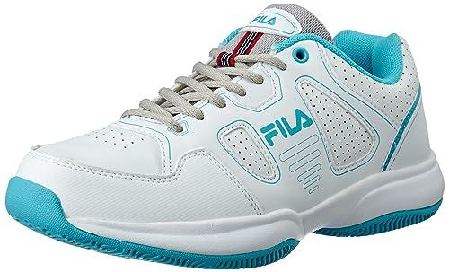 e21491070 Fila Women s Lugano 4.0 W White and Capri Tennis Shoes - 8 UK India ...