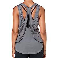Sylanfia Mujer Espalda Abierta Yoga Camiseta Atar la Ejercicio de Espalda Cruzada Camiseta sin Mangas Parte Superior…