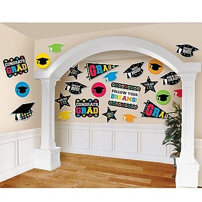 Graduation Party Decorations Multi Color Mega Value Pack Cutouts: Toys & Games