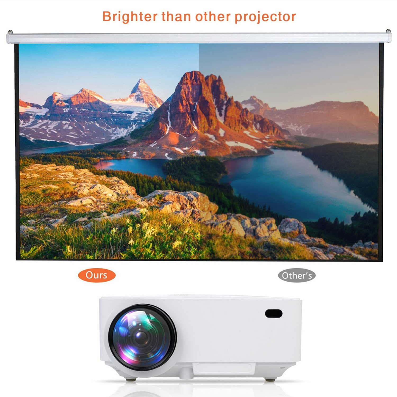 Proyectores, Mini Proyector Portátil HD Proyector LED 1800 Lumens WiMiUS R1 Projector LCD Home Cinema con Cable HDMI: Amazon.es: Electrónica