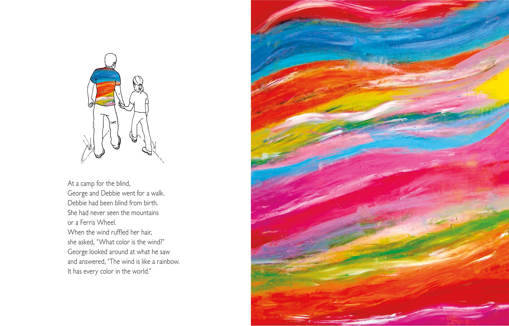 colors of the wind the story of blind artist and champion runner