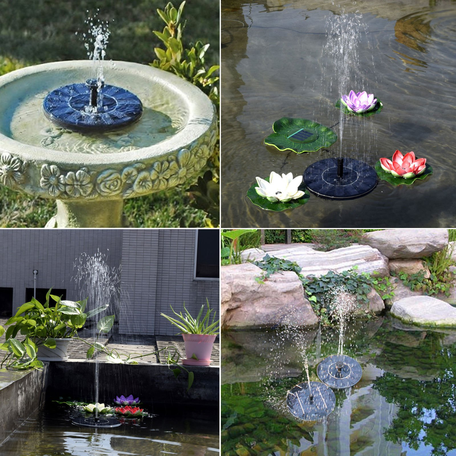 Eco Friendly Solar Power Water Pump Novelty Fountain Birdbath Outdoor Garden Plant Watering Auto Operate for Home Patio Pool Fish Pond Decoration Idea Gift etc.