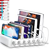 Poweroni USB Charging Station Dock - 6-Port - Fast Charge Docking Station for Multiple Devices - Multi Device Charger…