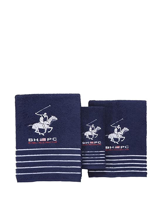 Beverly Hills Polo Club Set de 3 Toallas California blanco Unica: Amazon.es: Hogar