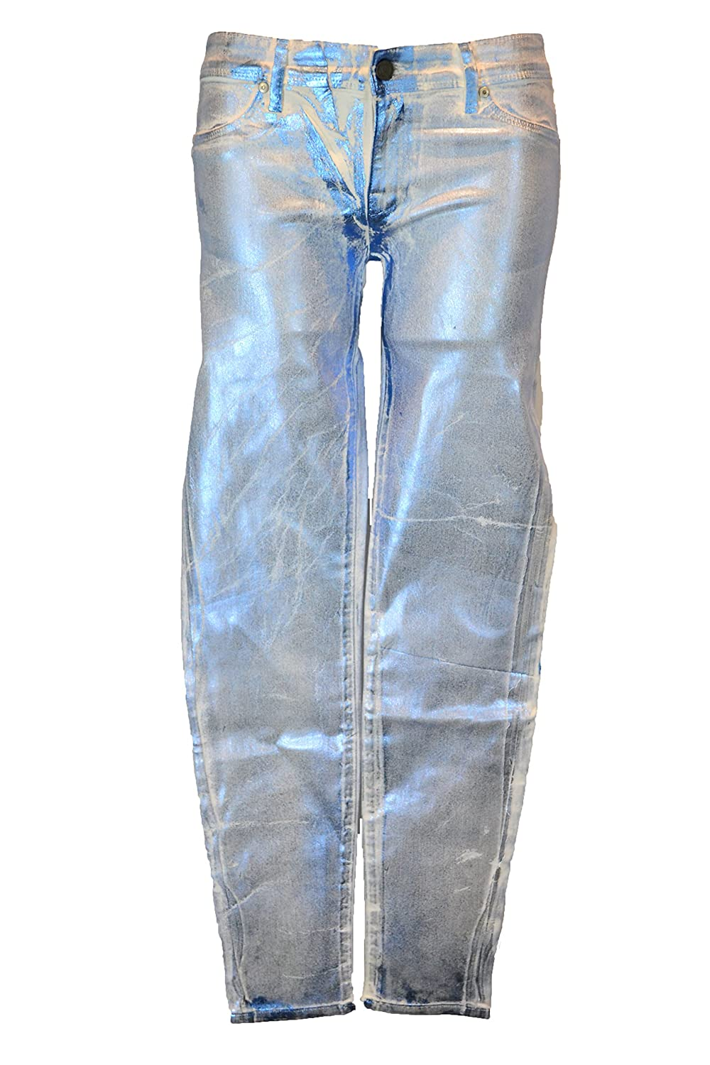 Sinclair Elon The Stick Skinny Jeans in Metallic Light Blue