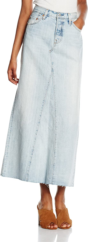 Levis Falda Larga Denim Maxi Skirt Azul Claro W32: Amazon.es ...