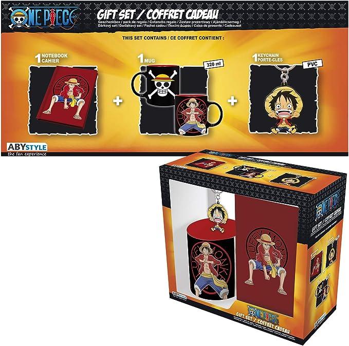 ABYstyle - One Piece - Caja de Regalo Luffy - Taza 320ml + Llavero ...