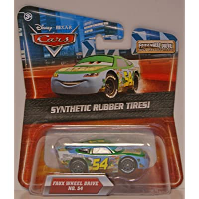 Disney/Pixar Cars Rubber Tires Exclusive Series Faux Wheel Drive No. 54 1:55 Scale: Toys & Games