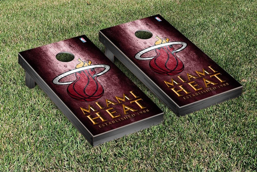 Miami Heat NBA Basketball Regulation Cornhole Game Set Museum Version