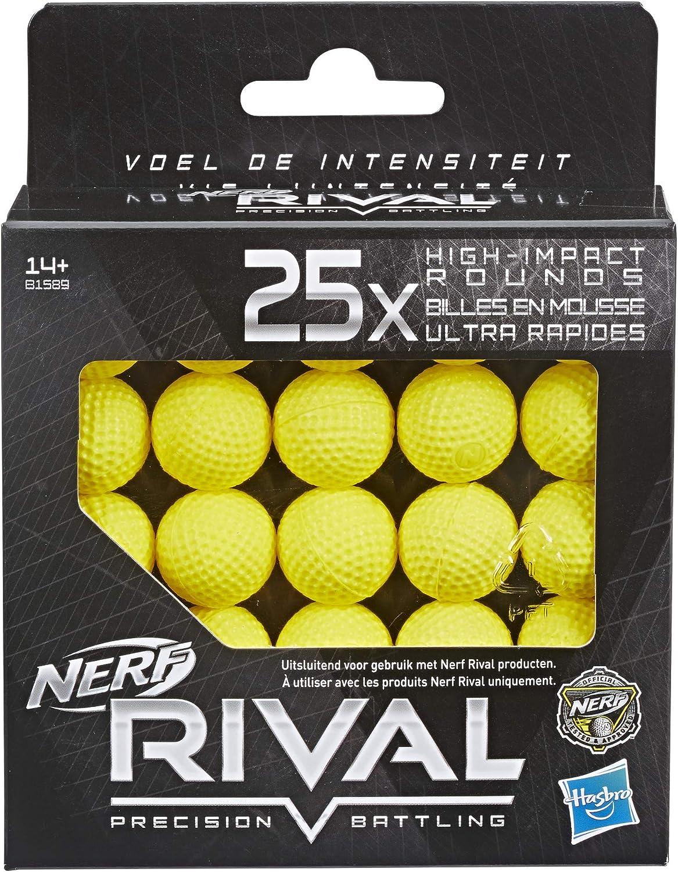 Nerf – Pack de 25 Bolas de Espuma Rival Oficiales: Amazon.es: Juguetes y juegos