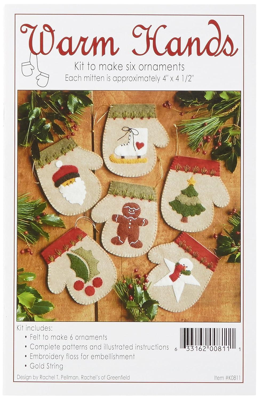 Rachels Of Greenfield Warm Hands Ornament Kit Set of 6 by Rachels Of Greenfield
