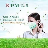 100 Pcs Disposable Surgical Flu Face Masks, 3-Ply