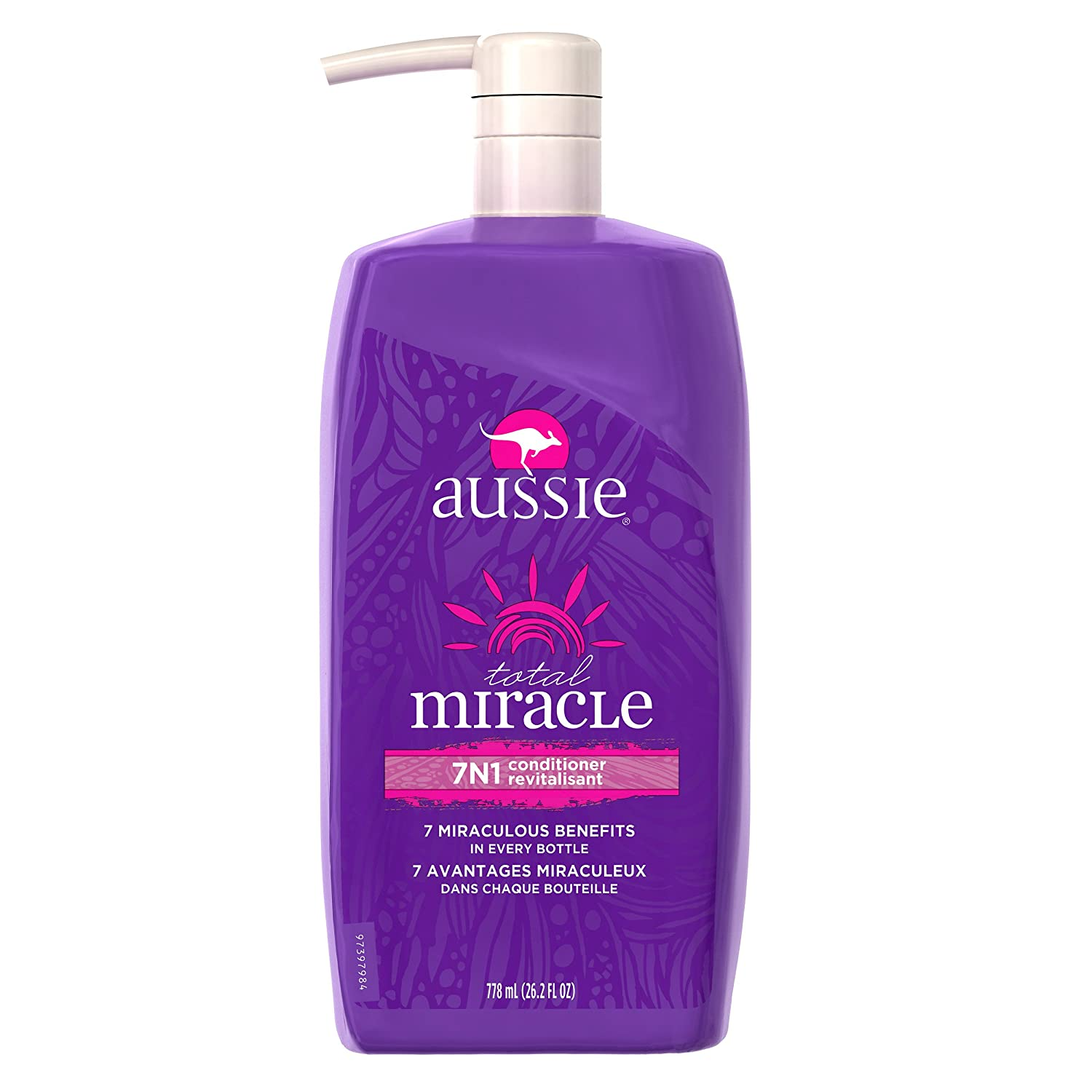For Damage – Aussie Paraben-Free Total Miracle Shampoo w/Apricot & Macadamia, 778 mL (Packaging may vary) Total miracle 7n1