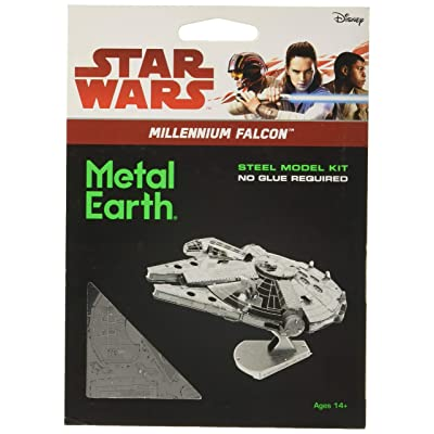 Fascinations Metal Earth Star Wars Millennium Falcon 3D Metal Model Kit: Toys & Games