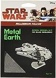Star Wars Maqueta de Metal 3D Halcón Milenario, Color Plateado Earth MMS251